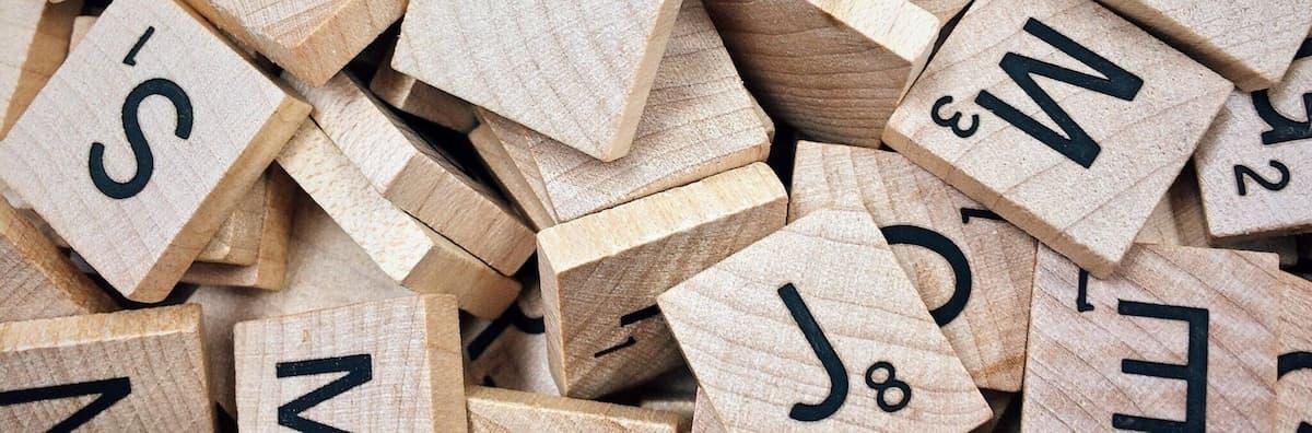 Image of scrabble tiles